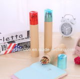 Crayon de couleur de 12 couleurs de 7 pouces dans le barillet de papier, Sky-029