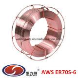 Cer70S-6 (Opper Fil de soudure AWS A5.18 ER70S-6)