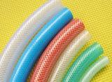 PVC 나선형 연약한 섬유에 의하여 강화되는 호스 기계