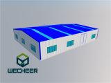 Edificio de estructura de acero para mostrar la habitación y almacén