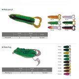 Attrait de pêche de grenouille de corps de silicones du crochet bon marché Vmc