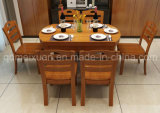 固体木のダイニングテーブルの居間の家具(M-X2433)