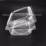 Пластмасса PS PP коробки торта Clamshell упаковывая устранимую коробку обеда