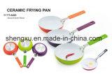 De handvat Met een laag bedekte Non-Stick Pan van het Aluminium voor Cookware Reeksen sx-A025