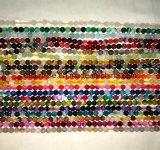 Halb kostbarer Stein-Striped mit einem Band versehene Achat-Kristall-Raupe