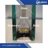5mm+9A+5mm hellgrüner Gleitbetrieb Isolierglas