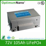 Batteria di litio imballata PWB di brevetto 72V 105ah per il veicolo elettrico
