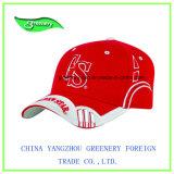 美しい赤3Dの刺繍の野球のスポーツの帽子