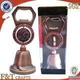 Grave de alta qualidade personalizada abridor de garrafa de logotipo com Bell