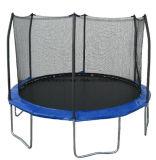 Trampolín redondo de 8 pies con 4 patas y caja de seguridad para jugar niños