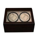 4+6 Knoten-hölzerner Mattlack-automatische Uhr-Winde