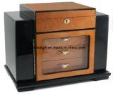 Deluxe Great Dial Hygrometer Spanish Cedar Keyed Lock Set Cigar Box-200 Cigares