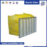 De gele Kleur Gegalvaniseerde Filter van de Zak van het Frame van het Staal F8