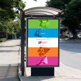 حديثة معدنة خارجيّ يعلن حافلة موقف مأوى في تصميم جيّدة لأنّ يعلن مع [لد]