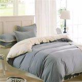 洗浄された布単一カラー寝具セット、柔らかい快適