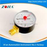 Calibre de pressão geral com o indicador vermelho do ponteiro