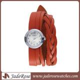 Moderne Form-Leder-Band-Uhr