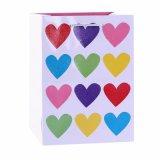 Bolsas de papel del regalo de la torta de chocolate del corazón del color de rosa del día de tarjeta del día de San Valentín