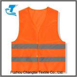 Gilet r3fléchissant adulte orange de travail de coton de sûreté