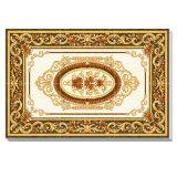 El techo caliente de la venta representa los azulejos de la alfombra del suelo