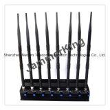 Oito Antenas Bloqueadores de sinal para 2g+3G+4G+2.4G+Lojack+telecomando, 3G CDMA Sinal Celular GPS Jammer (CPJ3060)
