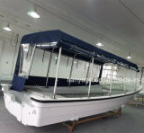 Liya 25FT 10 Personen-Passagier-Fiberglas-Boots-Mannschafts-Boots-Verkauf