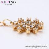 31008 meilleure vente de boule de cristal Diamond CZ 18k Bijoux Collier Pendentif plaqué or