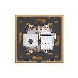 Livolo 2 Gruppe-Wand-Telefon und Computer-Kontaktbuchse-Anschluss Vl-C791tc-13/15