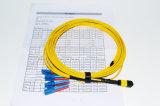 el 100% 3D probado con el informe de prueba MTP/la base de MPO 8, 12core, cable de 24core 40g /100g MPO