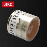 Custom Pre-Printed Capa de Pet Autoadhesivos adhesivo hot melt rollos adecuado para llevar la etiqueta