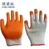 10 Anzeigeinstrument Polycotton Sicherheits-Handschuh-glatter Latex beschichtete in China