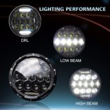 La DRL halo 75W 12V Moto LED Ronde 7 pouces de phare de voiture