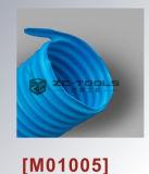 Гибкий рукав пробки PU сборника синего накала холодный упорный (M01005)