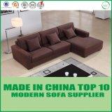 Zeitgenössisches Hauptmöbelbrown-Wohnzimmer-Gewebe-Sofa mit Wagen