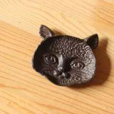 Décoration de maison et de jardin de sculpture en fer de moulage/chat de Polyresin