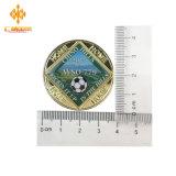 Moeda feita sob encomenda barata do futebol do desafio dos esportes do emblema do metal