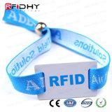 Braccialetti tessuti tessuto di controllo di accesso di pagamento di NFC RFID per gli eventi