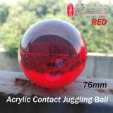 76mm Dsjuggling acrílico rojo bola malabares de magia Contacto