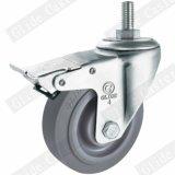 중간 의무 TPR 두 배 방위 스레드 줄기 피마자 바퀴 (회색) G3302