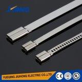 tipo ataduras de cables de la anchura de 4.6m m nuevo del acero inoxidable de la escala