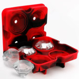 Новый инструмент кухни прессформы шоколада 4 подносов силикона партии штанги создателя прессформы кубика льда формы 3D диаманта полости, большой подарок