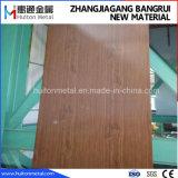Зерно из светлого дерева с покрытием из ПВХ ПВХ ламинат стальной стальной лист катушки