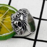 ステンレス鋼の頭骨のライオンヘッドは動物のヘッドリングの卸売を鳴らす