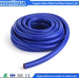 Tube en caoutchouc coloré durable de silicones de catégorie comestible de tresse de fibre