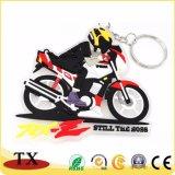 Forma de moto para regalo de promoción de PVC Llavero