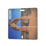 Um Tag da bagagem do PVC do tamanho padrão da impressão do cartão