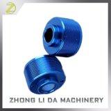 Голубая анодированная подвергая механической обработке алюминиевая часть Lathe CNC