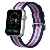 La calidad hace la correa de reloj a mano de nylon de la tela para Apple
