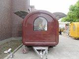 Modificado para requisitos particulares fábrica hecha y china alimentos de preparación rápida Van Trailer para la venta