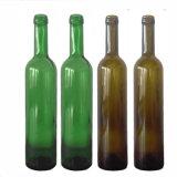 Frasco de vidro do bujão da cortiça do vinho vermelho 500ml de produto comestível